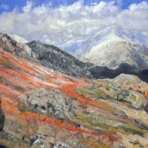 Boulder Fields Coniston, oil on board, prints available