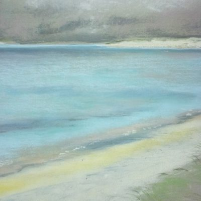 Scottish Beach2, chalk on paper