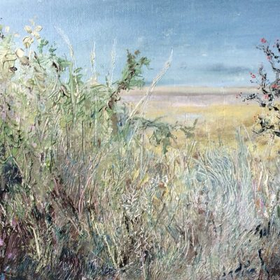 Estuary at Glasson, oil on board