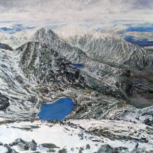 Levers & Low Waters from Coniston, oil on board, prints available