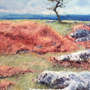Single Tree & Limestone Hampsfell, oil on board, prints available
