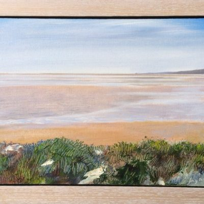 Looking from Silverdale, oil on board