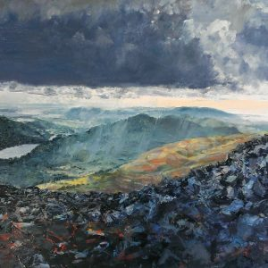 SOLD-Coniston Water from Disused Quarry, prints available