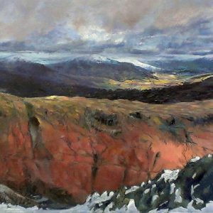 SOLD-Snowline, oil on board, prints available