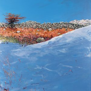 Bracken in Snow, oil on board, prints available