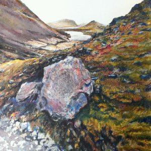 Buttermere from Green Crag, watercolour & pastel