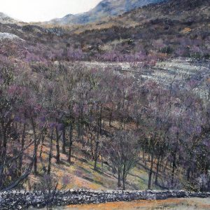 Hodge Close Slate Field and Wetherlam, oil on canvas