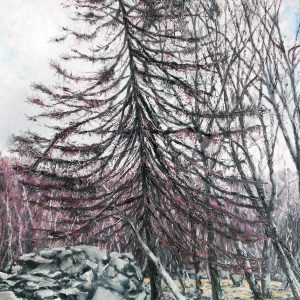 Single Larch, oil on board