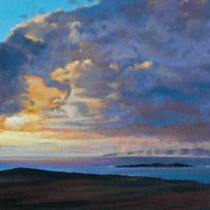 Sunset & Squally Showers, Connemara, oil on board
