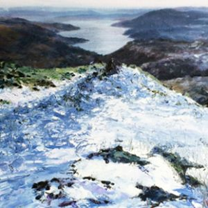 SOLD-Windermere in Winter, oil on canvas, prints available