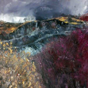 Little Langdale Quarries, oil on canvas, prints available