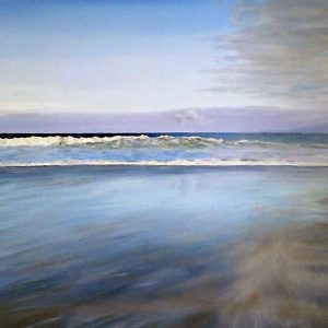 SOLD Sun Sea Sky, oil on board