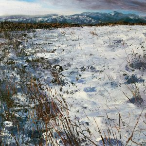 Snow above Windermere, oil on board-Prints available